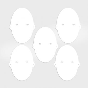 Fotomasken-Set mit fünf verschiedenen Gesichtern