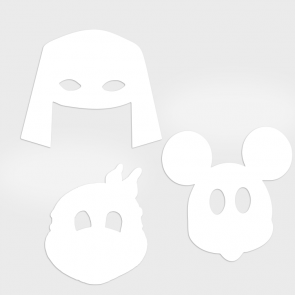 Lustige Masken mit individueller Kontur