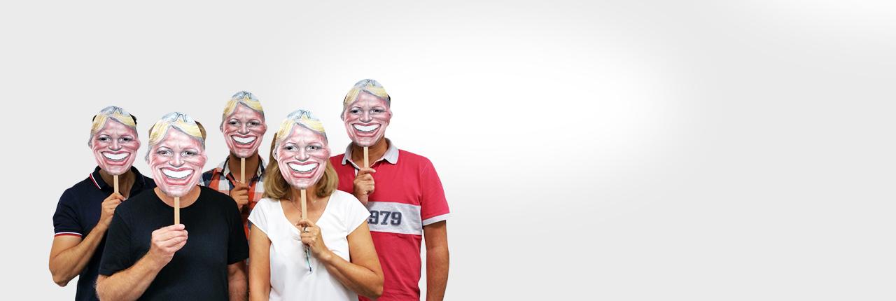 Fotomasken mit Stiel